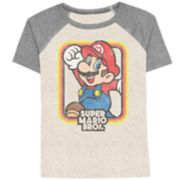 Boys 4-10 Jumping Beans® Super Mario Bros. Mario Raglan Graphic Tee