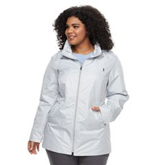 Plus Size d.e.t.a.i.l.s Hooded Lightweight Rain Jacket