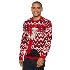 Men's Ostrich Christmas Sweater