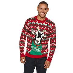 mens goat christmas sweater