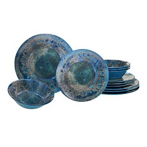 Certified International Radiance 12-piece Melamine Dinnerware Set
