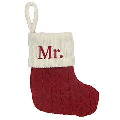 St. Nicholas Square® 8-in. Knit Monogram Christmas Stocking