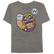 Boys 4-10 Jumping Beans® Nintendo Mario Bros. Wario Heathered Graphic Tee