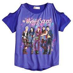 Disney's D-Signed Descendants 2 Girls 7-16 '#WickedSquad' Cold-Shoulder Tee