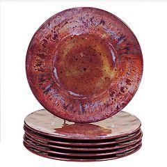 Certified International Radiance 6-piece Melamine Salad Plate Set