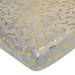TL Care Metallic Feathers Chenille Fitted Crib Sheet