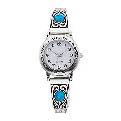 Women's Simulated Turquoise Cabochon Expansion Watch