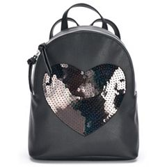 T-Shirt & Jeans Sequin Heart Backpack
