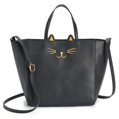 T-Shirt & Jeans Cat Face Tote