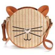 T-Shirt & Jeans Cat Straw Tambourine Crossbody Bag