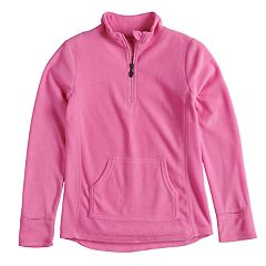 Girls 4-16 Cuddl Duds 1/4 Zip Fleece Top