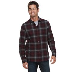 Men's Apt. 9® Brushed Flannel Button-Down Shirt