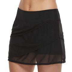 Women's Croft & Barrow® Tummy Slimmer Mesh Layered Swim Skirt