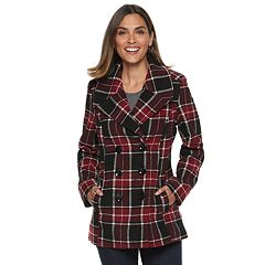 Women's Larry Levine Carrie Double-Breasted Peacoat