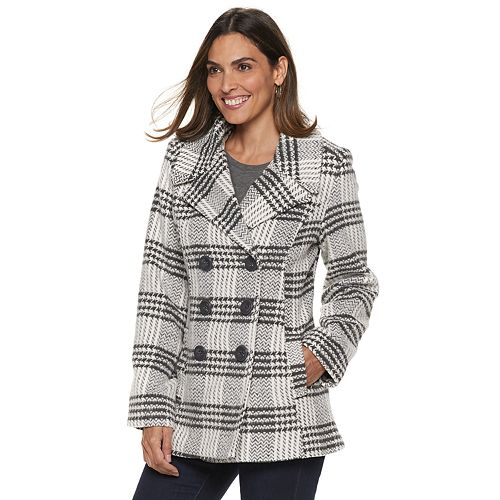 on feet at wholesale outlet great fit Women's Larry Levine Carrie Double-Breasted Peacoat