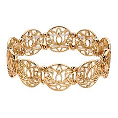 LC Lauren Conrad Lotus Flower Link Stretch Bracelet