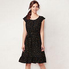 Petite LC Lauren Conrad Pleated Midi Dress