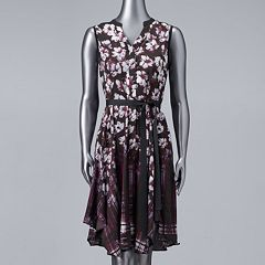 Women's Simply Vera Vera Wang Print Shirt Dress
