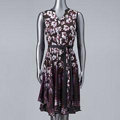 Women's Simply Vera Vera Wang Print Shirt Dress