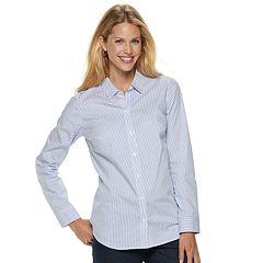 Petite Croft & Barrow® Easy Care Button Down Shirt