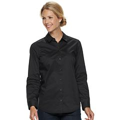 Petite Croft & Barrow® Easy Care Button Down Shirt
