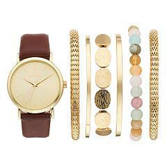Folio Women's Watch & Mesh Stretch Bracelet Set