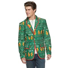Men's Gingerbread Man Christmas Blazer