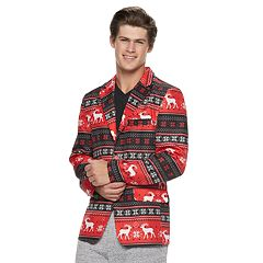 Men's Reindeer Striped Christmas Blazer