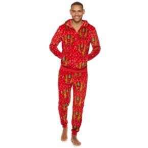 Men's Deer 2-Piece Velour Suit