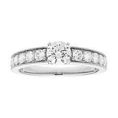 14k Gold 1 Carat T.W. IGL Certified Diamond Engagement Ring