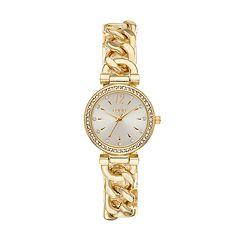 Folio Women's Crystal Curb Chain Watch