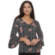 Women's Apt. 9® Tiered Bell Sleeve Top