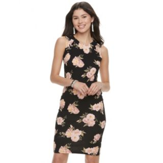 Juniors' Almost Famous Floral Bodycon Dress