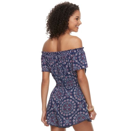 Juniors' Rewind Off The Shoulder Romper