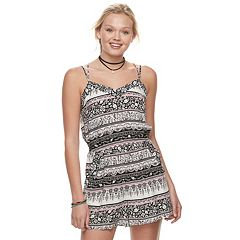 Juniors' Mudd® Strappy Sweetheart Romper