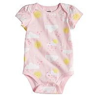 Baby Girl Jumping Beans® Print Picot-Trim Bodysuit