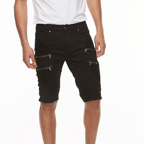 4651e3a4c0 Men's XRAY Slim-Fit Moto Stretch Denim Zippered Shorts