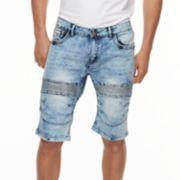 Men's XRAY Slim-Fit Moto Stretch Denim Shorts
