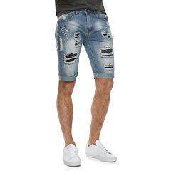 Men's XRAY Slim-Fit Distressed Denim Shorts