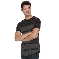 Men's Urban Pipeline® Striped Scoop-Hem Tee