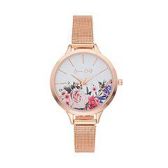 Women's Floral Mesh Watch