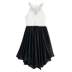 Girls 7-16 Love, Jayne Sleeveless Embellished Neck Halter Dress