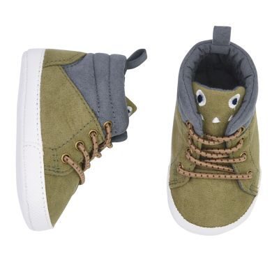 Baby Boy Carter's Critter High-Top Sneaker Crib Shoes