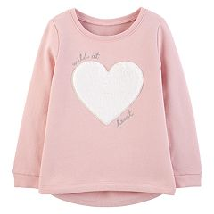 Toddler Girl Carter's Heart Graphic Fleece Top