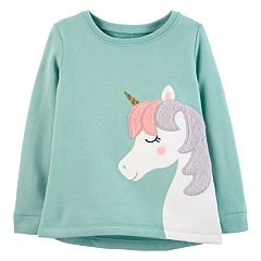 Toddler Girl Carter's Unicorn Graphic Fleece Top