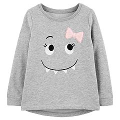 Toddler Girl Carter's Monster Graphic Fleece Top
