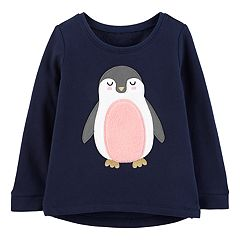 Toddler Girl Carter's Penguin Graphic Fleece Top