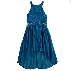 Girls 7-16 Love, Jayne Infinity Waist Walk-Through Dress