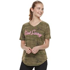 Juniors' 'Not Sorry' Camouflage Tee