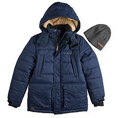 Boys 8-20 ZeroXposur Dexter Parka Jacket & Hat